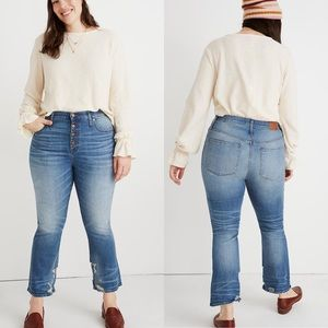 Madewell | Button Front Cali Demi Boot Jeans